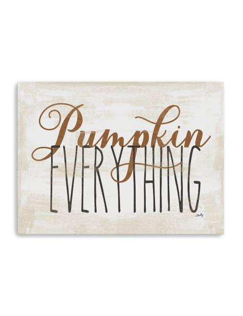 Pumpkin Everything Canvas Giclee