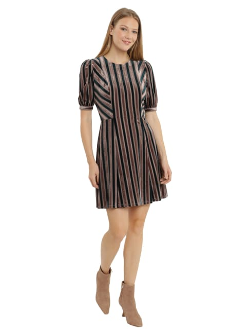Velvet Jewel Neck Dress