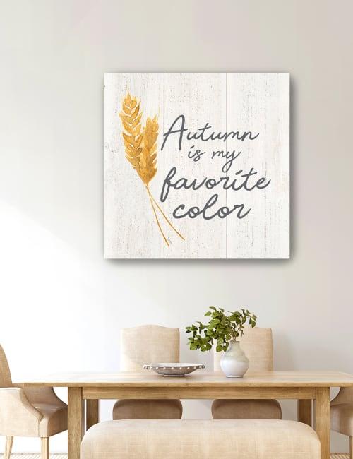 Farm Life II Autumn Canvas Giclee