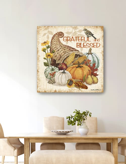 Grateful and Blessed Canvas Giclee