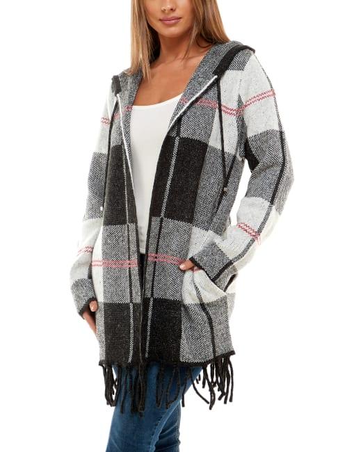Adrienne Vittadini Long Sleeve Hooded Coatigan