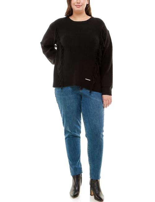Adrienne Vittadini Long Sleeve Crew Neck Sweater