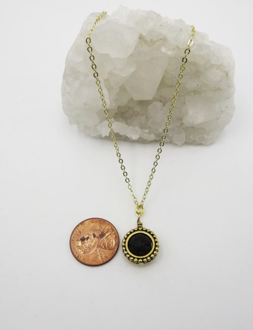 Jewels For Hope Black Lava Stone Diffuser Necklace