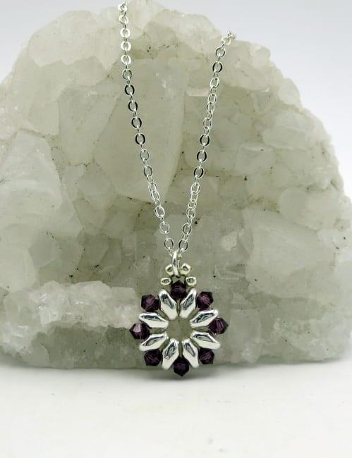 Jewels For Hope Black Swarovski Crystal Necklace