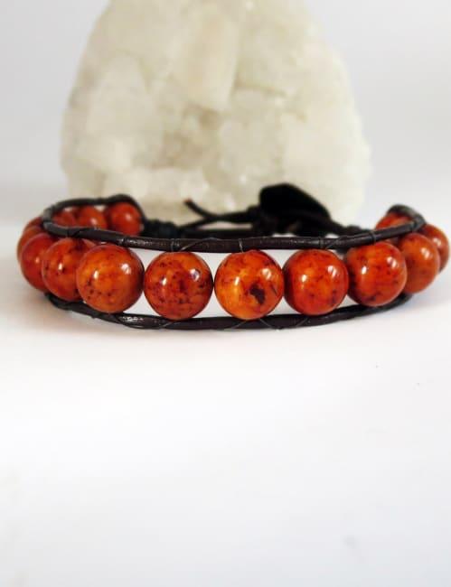 Jewels For Hope Rust Riverstone Stone Wrap Bracelet - As seen on Hallmark Star Will Kemp