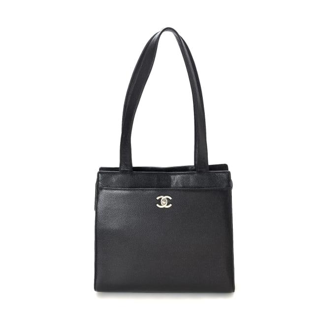 Pre-LovedChanel CC Caviar Tote Bag