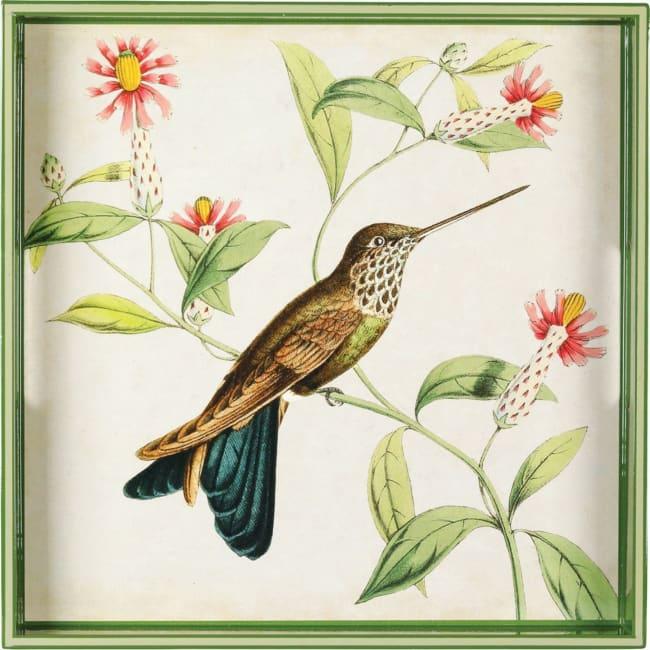 Hummingbird Square Tray