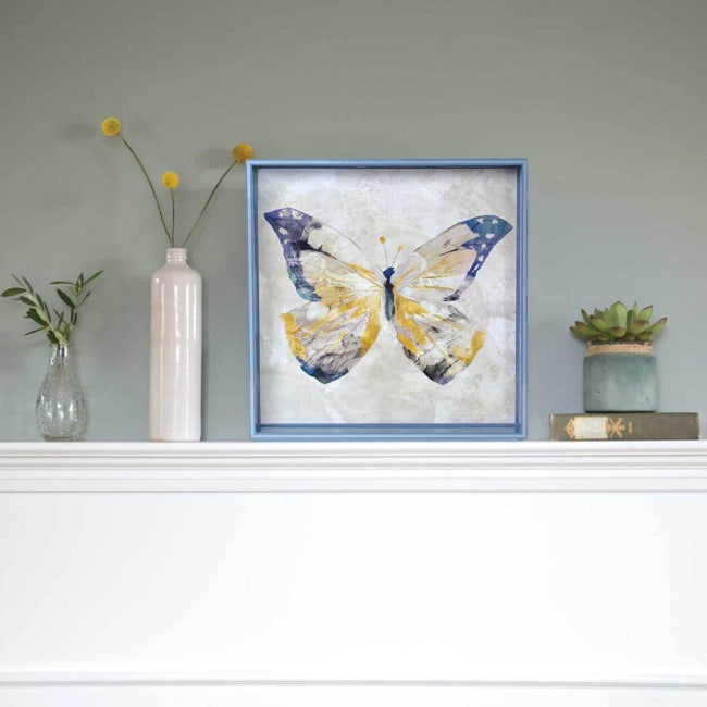 Butterfly 15 inch Square Tray