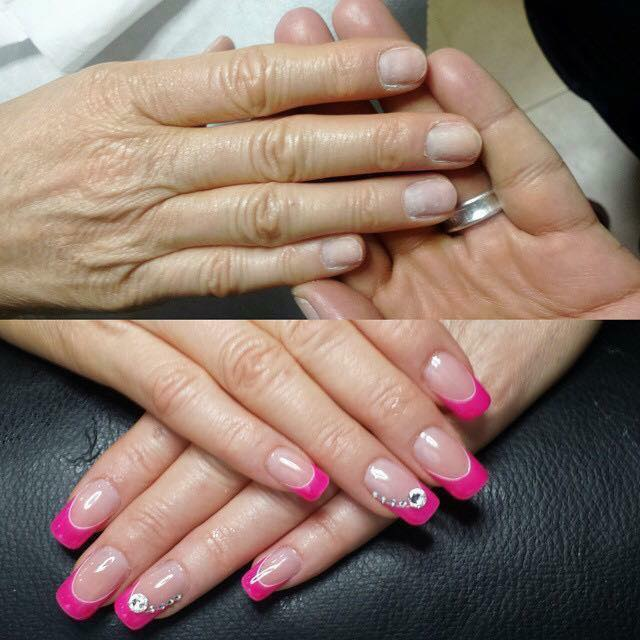 Pink and white nails kerpen