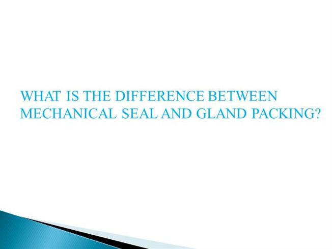 Gland packing vs mechanical seal