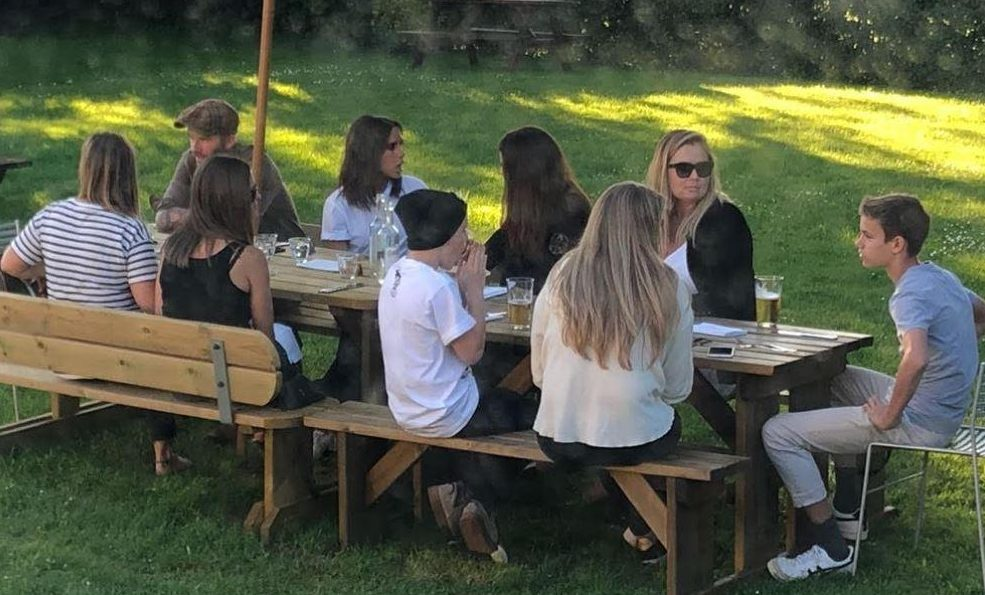 David Beckham and his wife Victoria could be seen sitting side by side, just days before rumours about them splitting up surfaced on social media