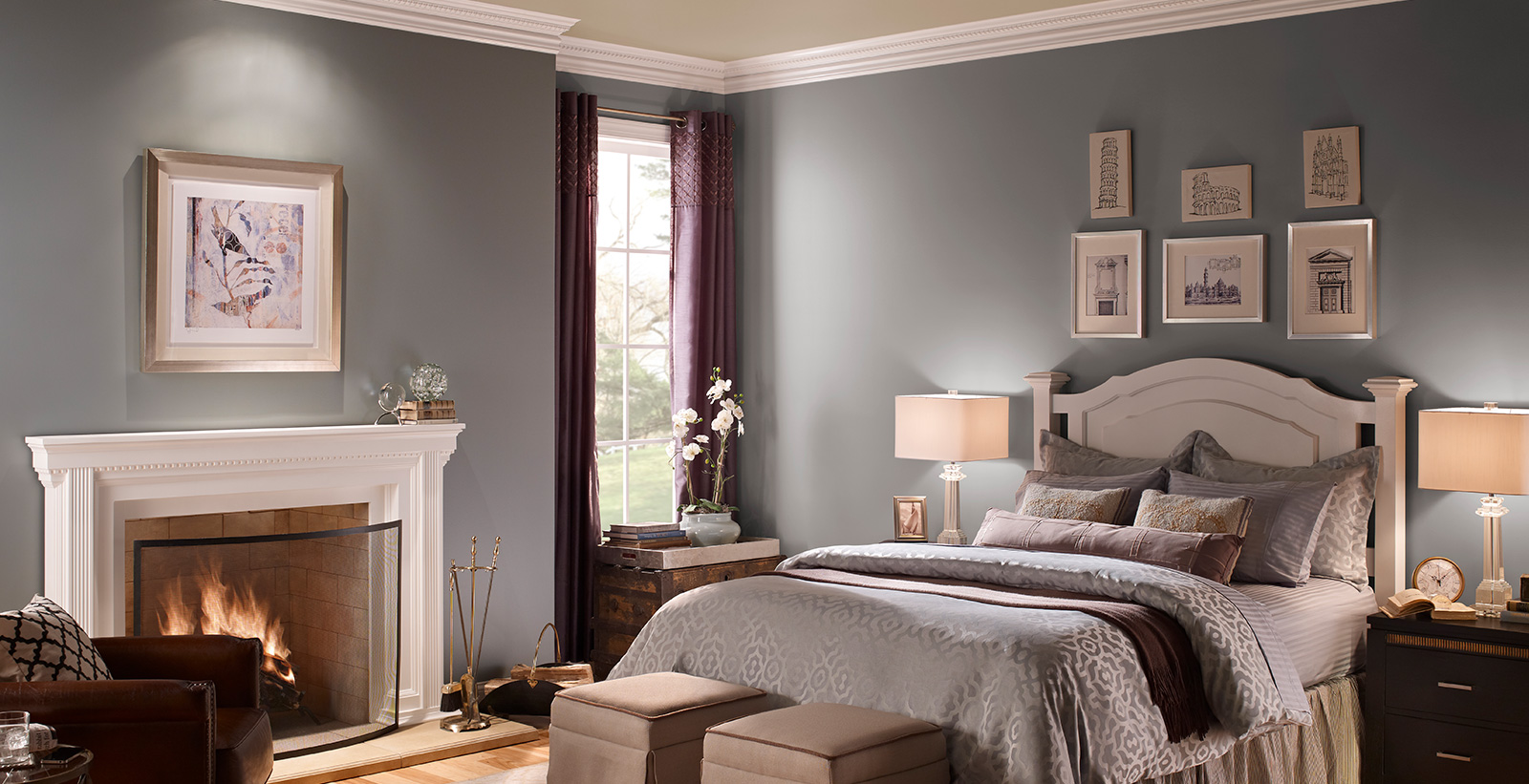 Pink painted bedrooms