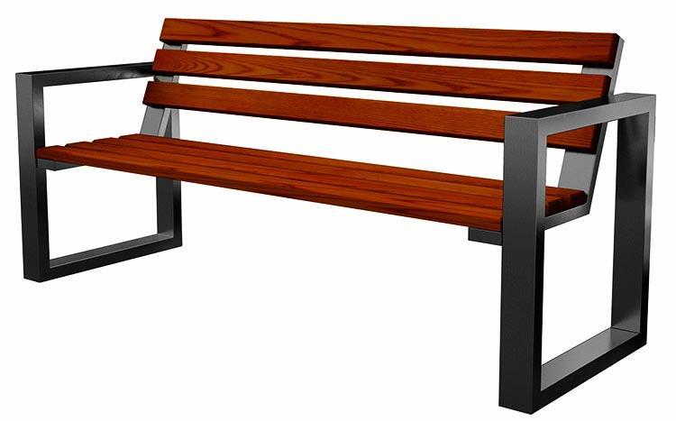 Модель парковой скамейки