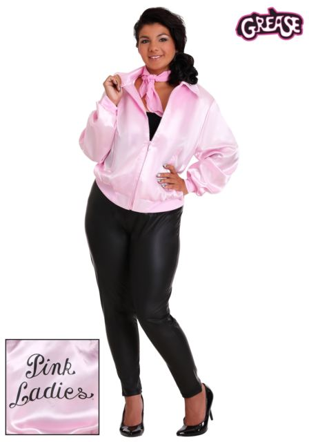 Plus size pink lady jackets from grease