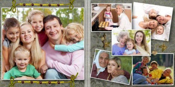 Семейные фото в альбоме