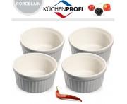 Набор керамических форм для духовки и морозильника, 4 шт, D 10 см, цвет серый, Kuchenprofi, Германия