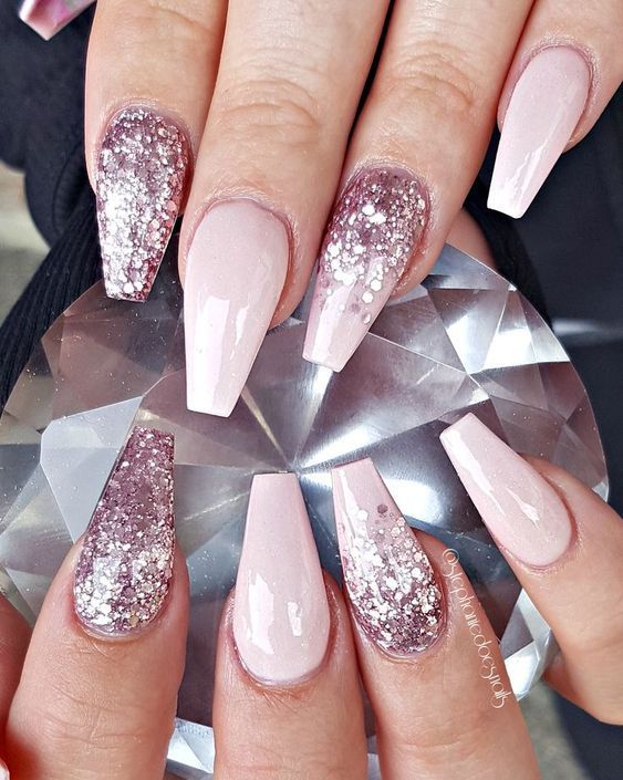 Cute girly acrylic nails