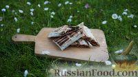 Фото к рецепту: Рулет из лаваша с беконом и грибами (на мангале)