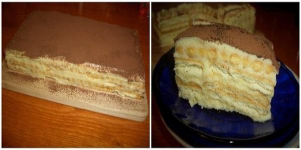 Торт аля тирамису из печенья