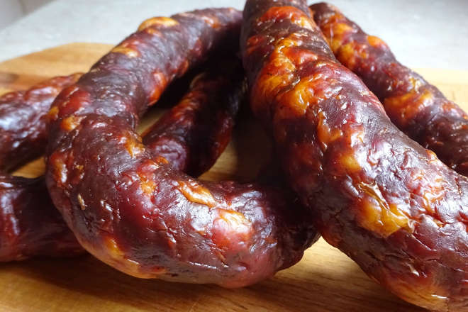Домашняя копчёная колбаса