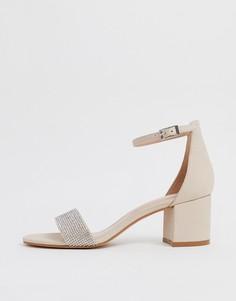 Прозрачные сандалии на каблуке с ремешками Public Desire Alia - Розовый