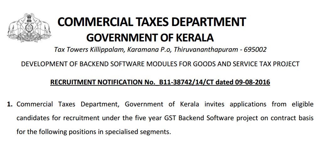 Kerala Government Programmer,Administrator,CSE/IT Engineers