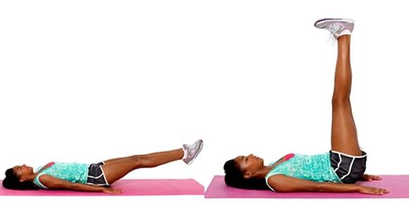 Упражнение уголок лежа