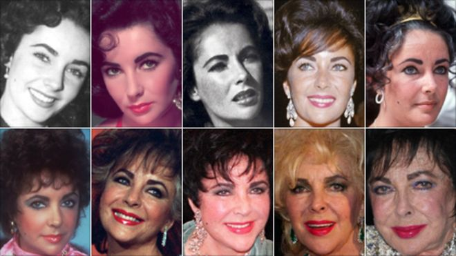 Elizabeth taylor young and old