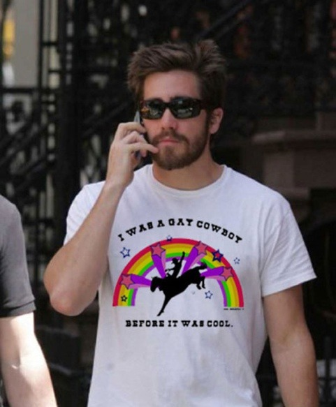 Jake gyllenhaal gay cowboy t shirt