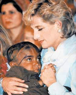 Princess diana charity landmines