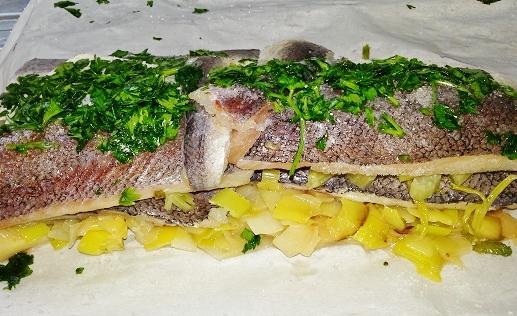 Filets de poisson aux poireaux