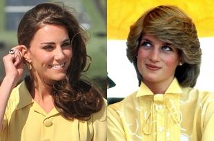 Видео дня: 15 похожих нарядов Кейт Миддлтон и принцессы Дианы