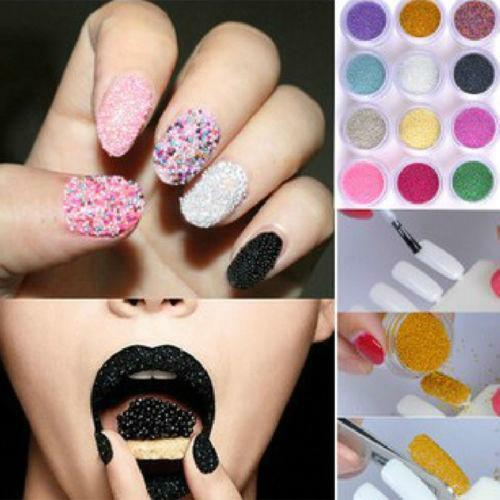 Micro beads for caviar nails