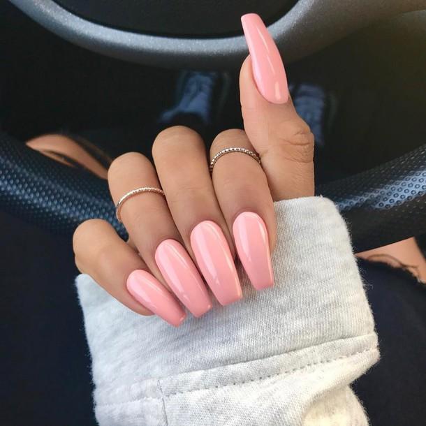 Pink fake nails tumblr