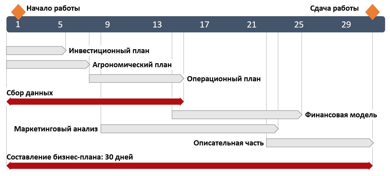 График бизнес плана