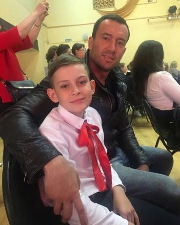 Михаил Терехин с сыном Данилой от первого брака