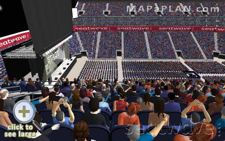 The O2 Arena London seating plan Block 402 Row K Full capacity view