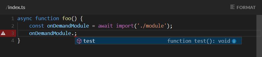 Stackblitz on demand module example