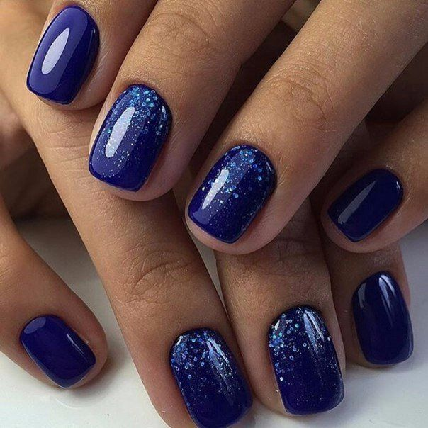 Blue gelish nails