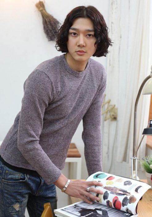 Long Sidepart Hairstyle for Korean Men