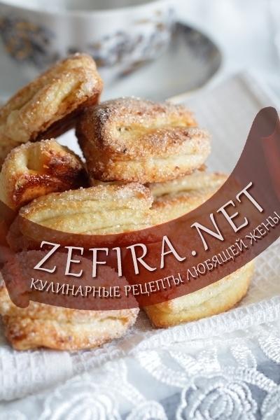 Рецепт слоеного творожного печенья