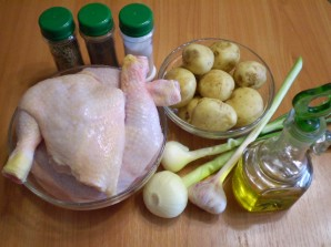 Тушение картошки с курицей в мультиварке