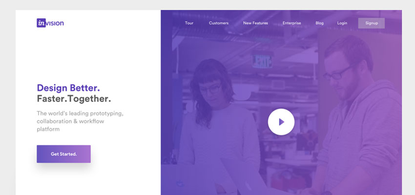 Uhvision theme Redesign - Landing Page & Mobile Web