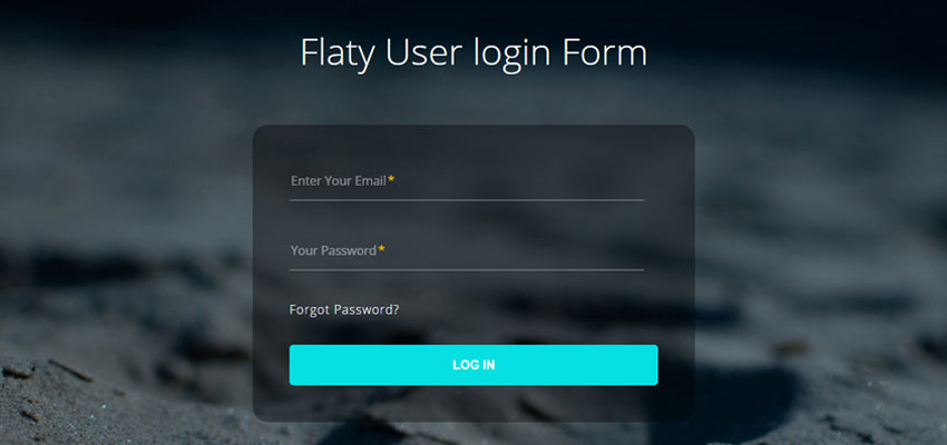 Flaty User login Form