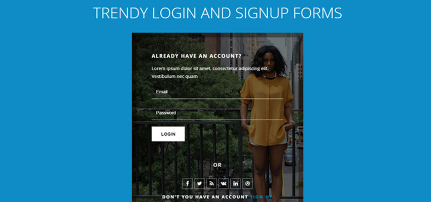 Trendy Login and Signup Forms
