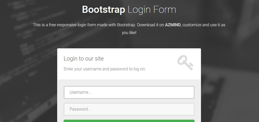 Customized Login Form