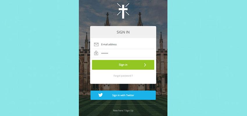 Church Signin Form