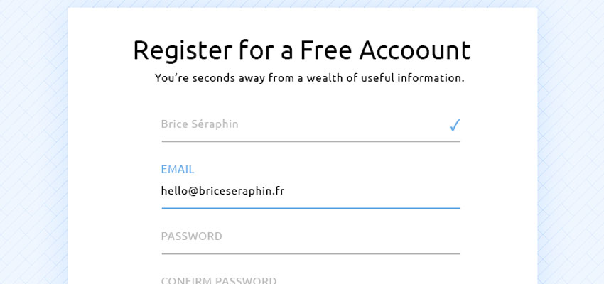 Login Form @Rebound #Freebies
