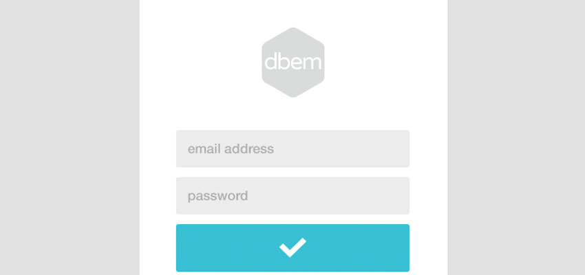 Simple Login Form with PSD