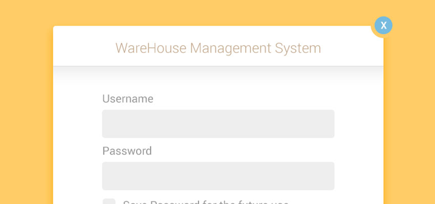UI/UX WareHouseMS Login Form